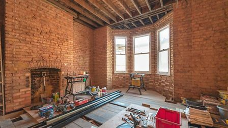 There's lots of potential to swtich up the layout of this almost gutted property