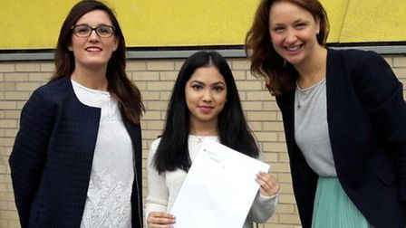 A-level students at City Academy Hackney celebrate their results