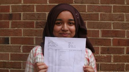 Mahfuza Ahmed: Hoping to go into a career involving maths or science