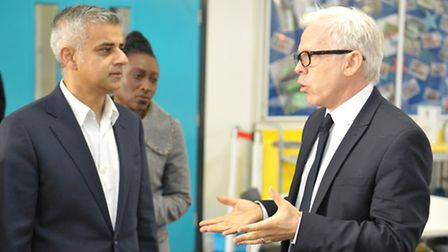 Success: City Academy Hackney principal Mark Emmerson, pictured with Sadiq Khan last year (Picture: