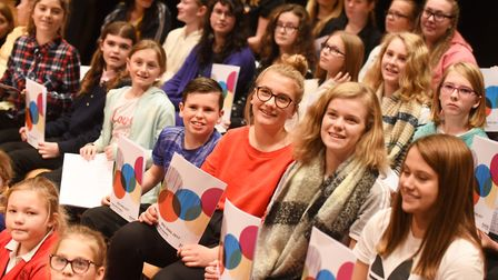 800 children from 22 Suffolk primary schools took part in the Big Sing at Snape Maltings. Picture: G