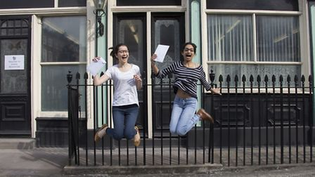 Students of Francis Holland celebrate their results