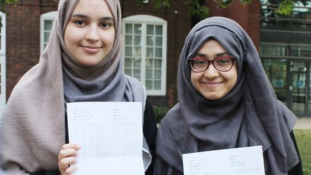 Laila Danesh and Nadiya Hussain show off their transcripts