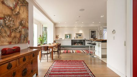 The property has a fabulous open plan reception area