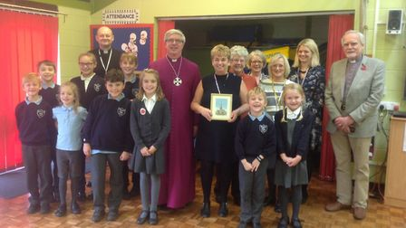 The Bishop of Norwich visits Blundeston Primary School. Courtesy of Blundeston Primary