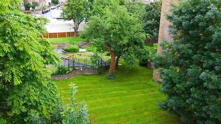 The Highgate property has access to (and views of) a communal garden