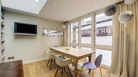 The semi-open plan layout is an appealing feature of this Primrose Hill property