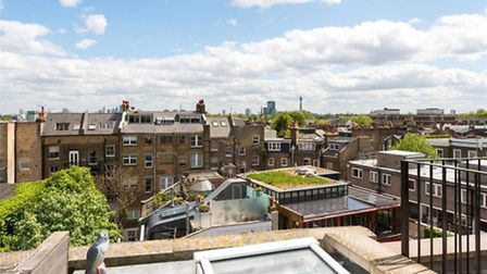 A roof terrace with a view