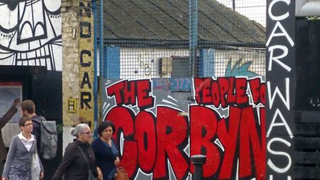 The People for Corby Graffiti at Kentish Town Car Wash