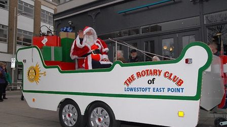 The Rotary Club of Lowestoft East Point's Santa Sleigh prepares to tour the streets once more. Pictu