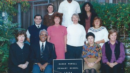 With Baden Powell colleagues in 1994 (Picture: Sharon Harvey)