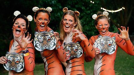 Dozens of runners took part in the run at London Zoo
