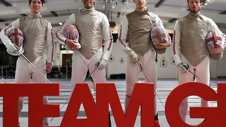 Great Britain's (left to right) Marcus Mepstead, James Davis, Richard Kruse and Laurence Halsted at
