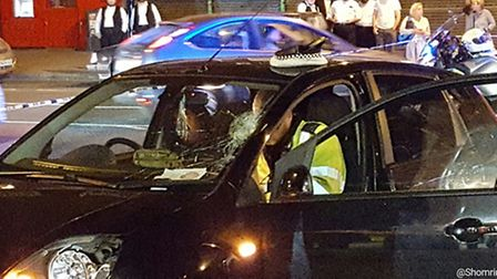 The car was badly damaged in the crash. (Picture: @Shomrim).