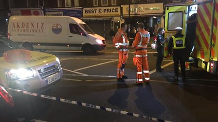 Emergency services at Stamford Hill. (Picture: @999London).