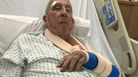 Brian Mitchell, 86, suffered a number of serious injuries in a Lowestoft hit and run incident. Photo