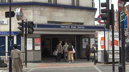 The man was rescued at Finchley Road Tube station