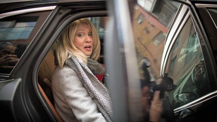 Works and Pensions secretary Esther McVey leaves her home in London before quitting government over