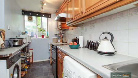 A neat modern kitchen would make all the difference for this flat