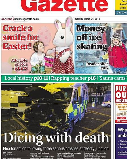 The front page of the Gazette on March 24, following three weeks of crashes before the consultation