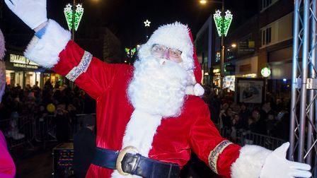 Father Christmas at the Lowestoft Christmas lights switch on event.Picture: Nick Butcher