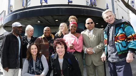 Ruby Wax with the cast of A Midsummer Night's Dream at the Rio in Dalston earlier this year. The cin
