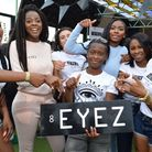 8Eyez showcase party at Dalston Roof Garden. CEO Julia Samboma with the 8EYEZ team. (Picture: Polly