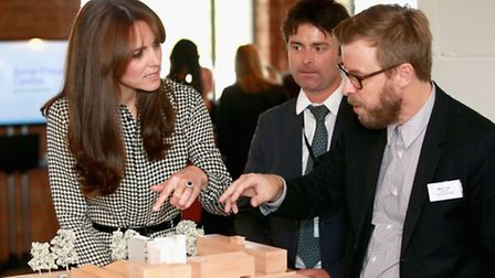 The Duchess of Cambridge during a tour of the Anna Freud Centre in London, which is her first solo p