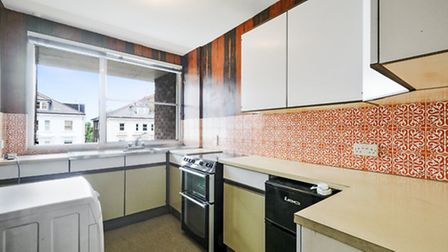 You could even keep the kitchen's delightful retro kitchen if you wanted a trip down memory lane