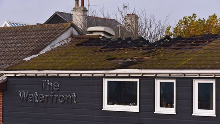 Fire damage caused to the Waterfront restaurant in Kessingland. Picture: Nick Butcher