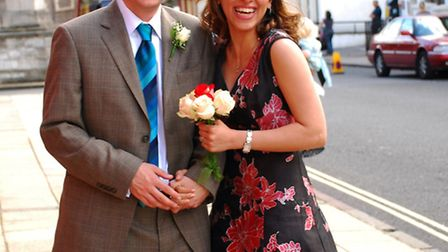 Nazanin and Richard Ratcliffe on their August wedding day seven years ago