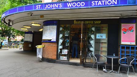 The Beatles Coffee Shop at St John's Wood tube station