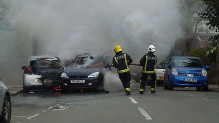The fire brigade from Hornsey were there for 20 minutes. Photo: Trevor Arnold