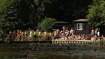 Hardy swimmers who enjoy year-round bathing in the Hampstead Ponds will not be able to use the ladie