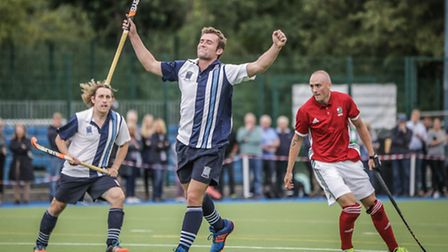 Matt Guise-Brown struck both of Hampsteads goals on Saturday, having also scored a hat-trick on his