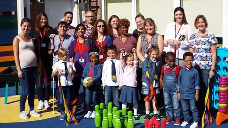 Members of the Royal London Society for Blind People with Halley House School pupils.