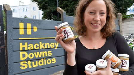 Pippa Murray, founder of Pip & Nut nut butters based at Hackney Downs Studios