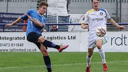 Freddy Moncur (left) scored Wingate's equalising goal. Pic: Martin Addison