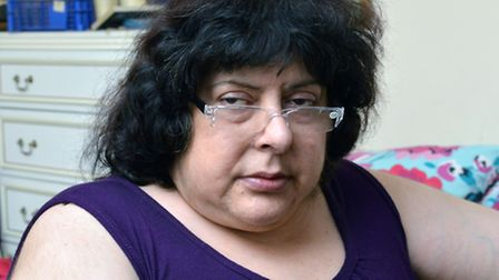 Benefits stopped: Dying Dalston woman Donna Pitino (Picture: Polly Hancock)
