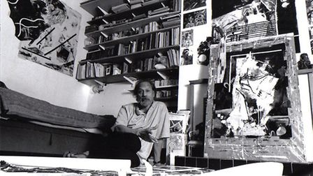 Lance Rebeiro in his Haverstock Hill flat in 2004