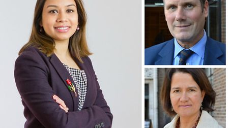 Camden MPs Tulip Siddiq (right) and Keir Starmer, who supported Owen Smith, and Hornsey and Wood Gre