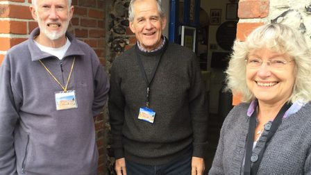 Lowestoft Museum volunteers Dennis Chivers, Rodney Duerden and Irene O'Toole. Picture: Courtesy of S