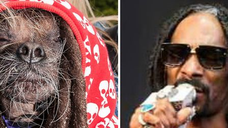 Snoop Dogg, left, Mugly, right