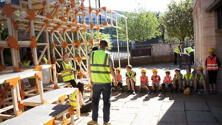 Youngsters designed and built the structure outside Sutton House (Photo: iBRODIEfoto)