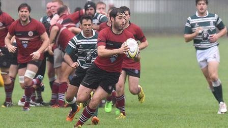Captain Tom Arnold was among the Old Boys' nine try-scorers on Saturday. Pic Paolo Minoli