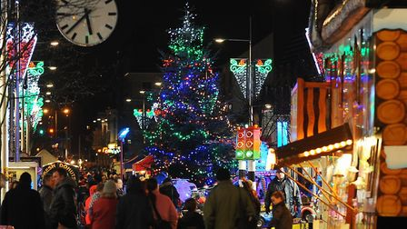 A previous Christmas lights switch on event in Lowestoft. Picture: Archant.