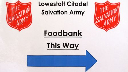Volunteers at the Salvation Army Citadel in Lowestoft, which continues to distribute food to those i