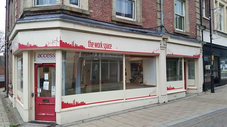 The Work Space, in Lowestoft High Street, which is acting as a foodbank centre. Courtesy of Access C