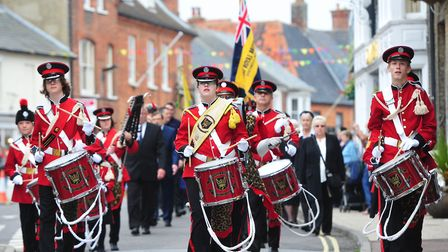 The Southwold and Reydon Corps of Drums - leading a previous event - has closed after 36 years. Phot
