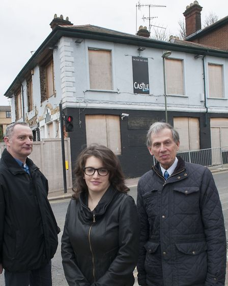 Left to right: Jonathan Davies, Charlotte Henry and Cllr Jack Cohen. Picture: Nigel Sutton.
